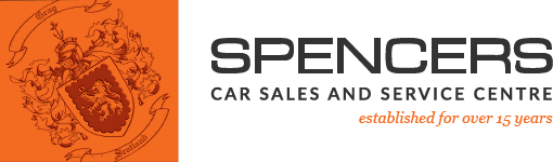 Spencers Car Sales Logo Service Dark
